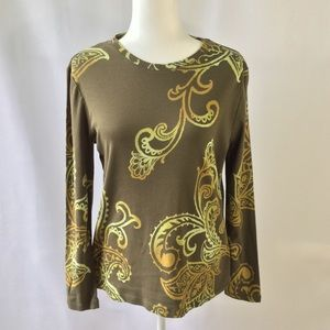 Sonoma  Green long sleeve Tee size PL